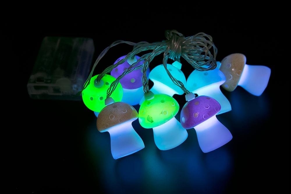 LED Big Mushroom Light Chain LC-047